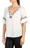 Paige Women's Chessa Embroidered Blouse