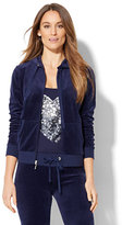 New York & Co. Lounge - Velour Hoodie Jacket