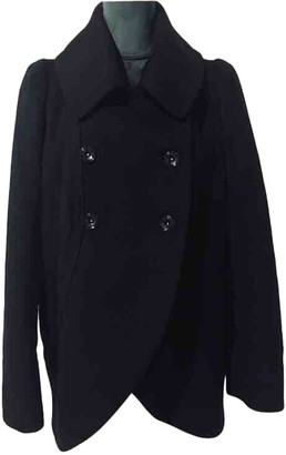 Plein Sud Jeans Black Wool Coats