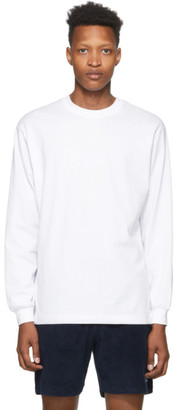 032c White Embroidered Logo Long Sleeve T-Shirt