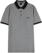 Boss Prout Grey Piqué Cotton Polo Shirt