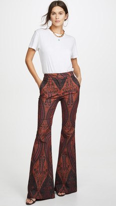 ADAM by Adam Lippes Printed High Waisted Flare Pants