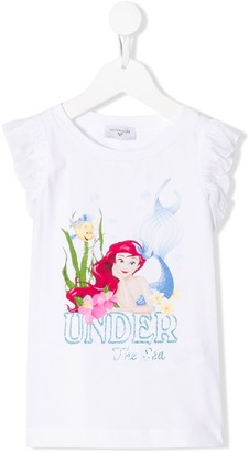 MonnaLisa mermaid print T-shirt