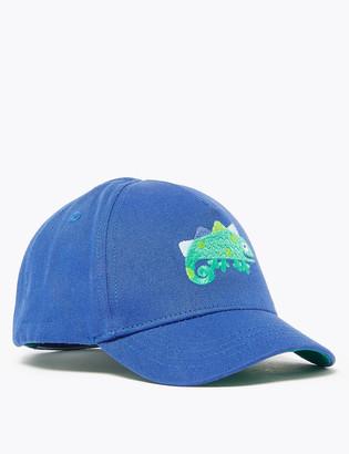 Marks and Spencer Kids' Chameleon Embroidered Baseball Cap (1-6 Yrs)