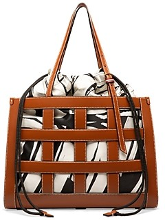 Bally Medium Calie Leather Cage Tote