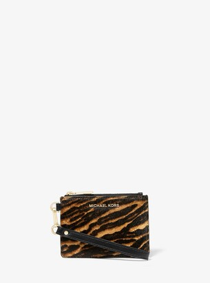 MICHAEL Michael Kors Jet Set Small Mixed Animal-Print Calf Hair Coin Purse