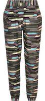 River Island Girls khaki geometric print jogger pants