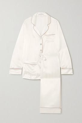 Olivia von Halle Coco Silk-satin Pajama Set - Ivory