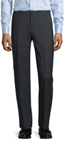 Ben Sherman Wool Checkered Flat Front Trousers