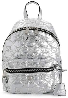 Moschino metallic quilted Teddy Bear backpack