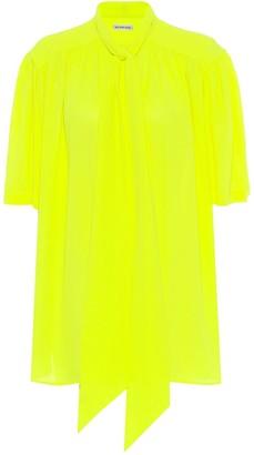 Balenciaga Scarf crepe blouse