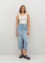 Thumbnail for your product : MANGO Slit denim skirt