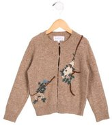 Rachel Riley Girls; Wool Embroidered Cardigan