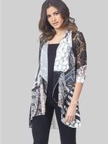 M&Co Izabel lace waterfall cardigan