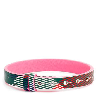 KEEP Collective Patterned Reversible Leather Band Charm Bracelet