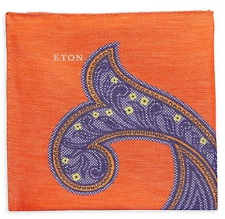 Eton Silk-Blend Paisley Pocket Square