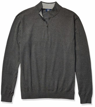 Cutter & Buck Men's Big and Tall Big & Tall Machine Washable Lakemont Half-Zip Sweater