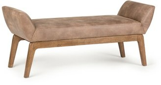 Hansford Faux Leather Bench George Oliver