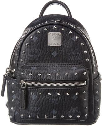 MCM Stark 20 Outline Studs Visetos Backpack