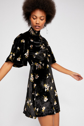 Free People Be My Baby Velvet Mini Dress