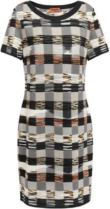 Missoni Checked Intarsia Wool Mini Dress