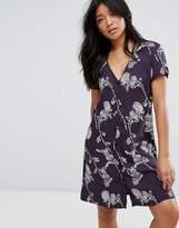 JDY Button Through Floral Dress