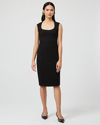 Le Château Ponte Knit Square Neck Dress