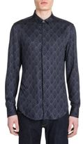 Emporio Armani Pattern Diamond Frost Slim-Fit Shirt