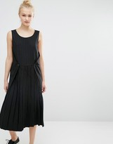 Monki Pinstripe Midi Dress