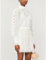 Zimmermann Super Eight crochet linen-blend mini dress