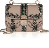 Valentino Crystal-embellished leather shoulder bag
