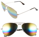 Ray-Ban Women's Large Icons 62Mm Aviator Sunglasses - Blue Multi Rainbow
