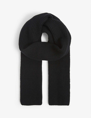 Johnstons Ribbed cashmere scarf