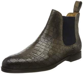 Melvin & Hamilton MH HAND MADE SHOES OF CLASS Women's Susan 10 Chelsea Boots, Grau (Grey Crock-Grigio-Elastic-Navy-Lining-Rich Tan-Insole Leather-HRS-Black)