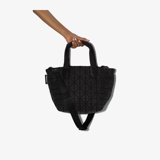 VeeCollective black Vee small tote bag