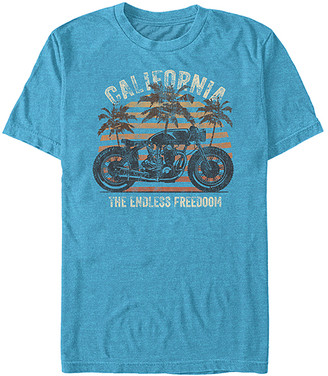 Fifth Sun Men's Tee Shirts TURQ - Turquoise Heather 'California' Crewneck Tee - Men