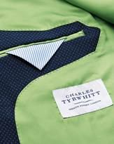 Slim Fit Royal Blue Double Breasted Birdseye Wool Jacket
