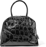 Alaia Croc-effect patent-leather tote