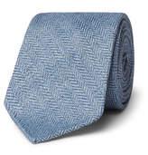 Drakes Drake's 8cm Herringbone Linen Tie