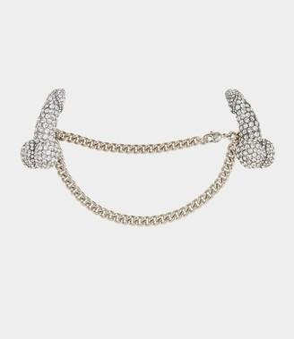 Vivienne Westwood Pave Penis Waistcoat Chain Crystal