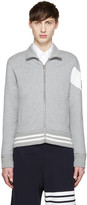 Moncler Gamme Bleu Grey Zip-up Sweater