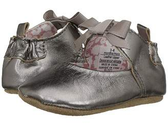 Robeez Amelia Ankle Strap First Kicks (Infant/Toddler) (Grey) Girl's Shoes