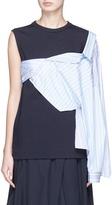 Enfold Deconstructed stripe shirt overlay jersey top