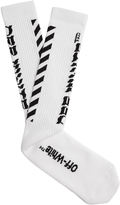 Off-White Diag cotton socks