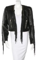 Balmain Fringe Leather Jacket