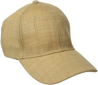 San Diego Hat Company Women's Woven Raffia Ball Cap