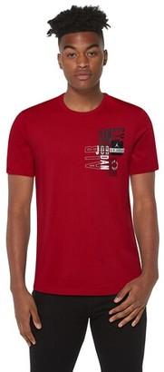 Jordan Jumpman Moto T-Shirt - Red / Black White