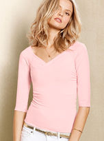 Victoria's Secret Ruched Cross-front Tee