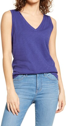Madewell Whisper Shout Cotton V-Neck Tank