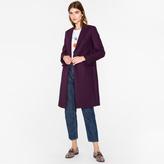 Paul Smith Women's Purple Wool-Cashmere Epsom Coat